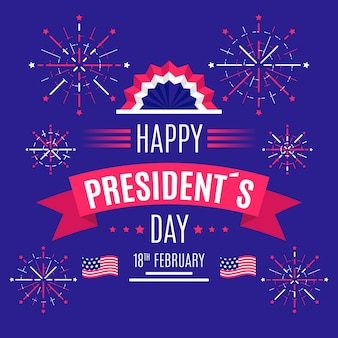 Vuurwerk president dag groet