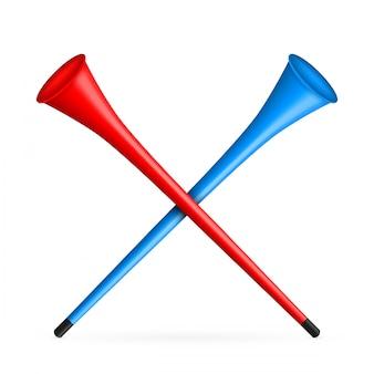 Vuvuzela trompet, pijp, bugel voor voetbal, voetbal
