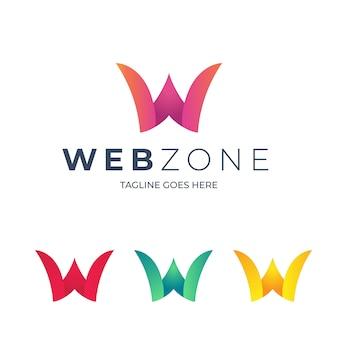 W brief logo sjabloon