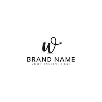 W brief logo template