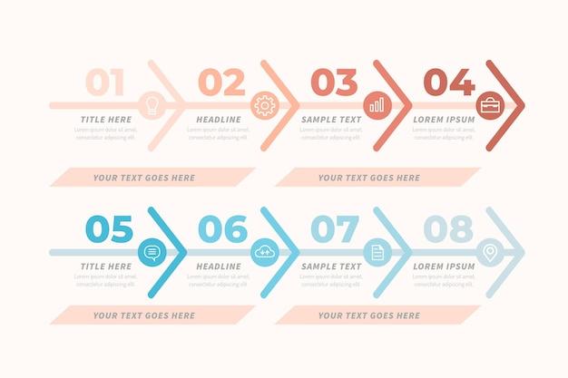 Waardeketen grafieksjabloon infographic