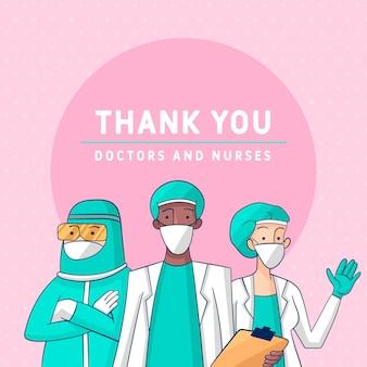 Waardering van artsen en verpleegkundigen