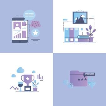 Waardering vector concept illustratie