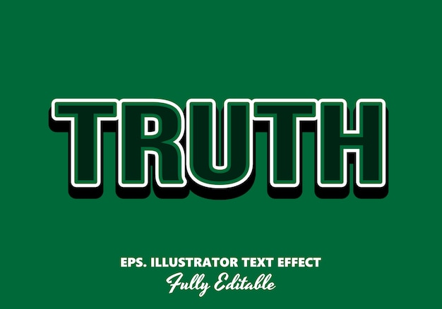 Waarheid bewerkbaar teksteffect