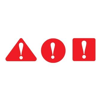 Waarschuwing gevaar vector pictogram illustratie ontwerpsjabloon