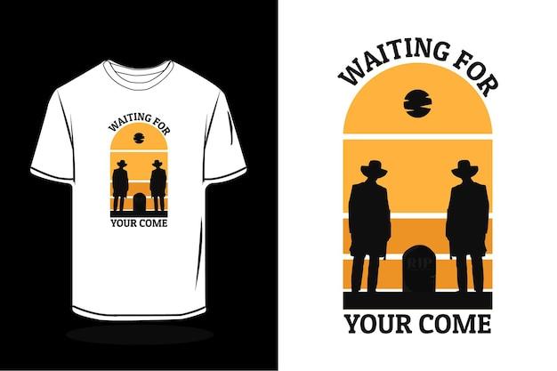 Wachten op je retro t-shirtontwerp