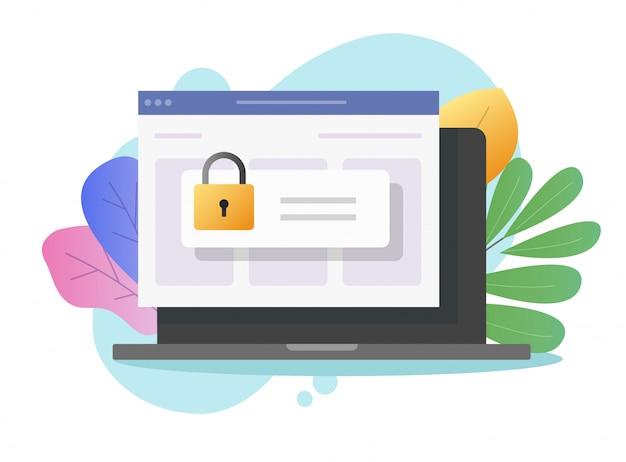 Wachtwoord beveiligde toegangsbeveiliging op laptopcomputer