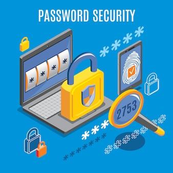 Wachtwoordbeveiliging isometrisch