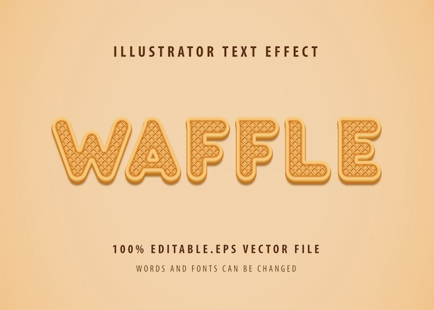 Wafel tekststijl effect
