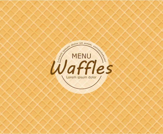 Waffle achtergrond