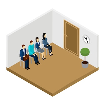 Waiting for interview illustration