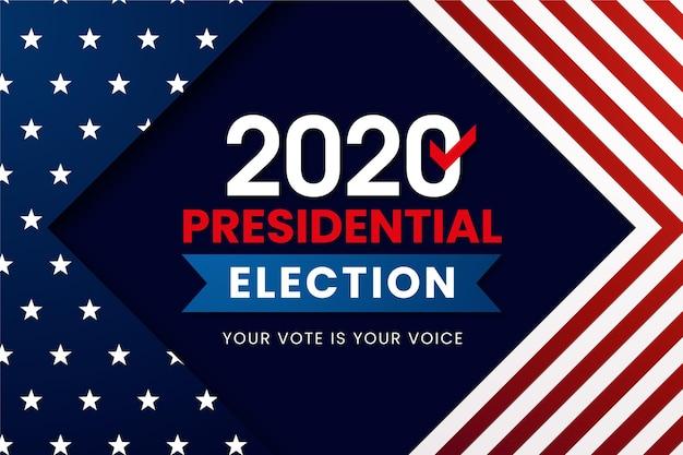 Wallpaper van de amerikaanse presidentsverkiezingen van 2020