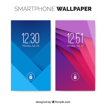 Wallpapers set geometrische vormen voor mobiel