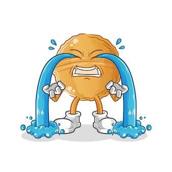 Walnoot huilt. karakter