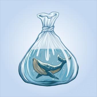 Walvissen zijn geen gratis illustratie