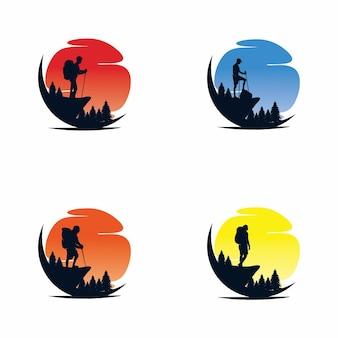 Wandelavontuur logo vector design