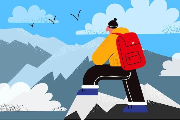 Wandelen op bergen, natuur