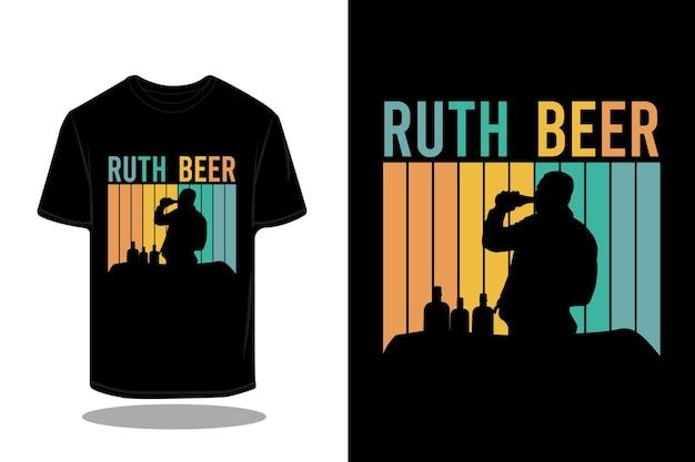 Wandelen woestijn silhouet retro t-shirt ontwerp