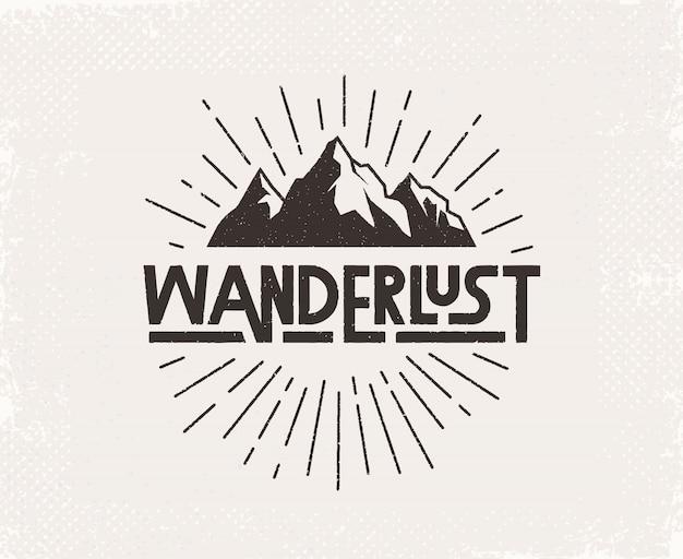 Wanderlust handgeschreven letters