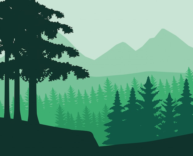 Wanderlust landschapslandschap