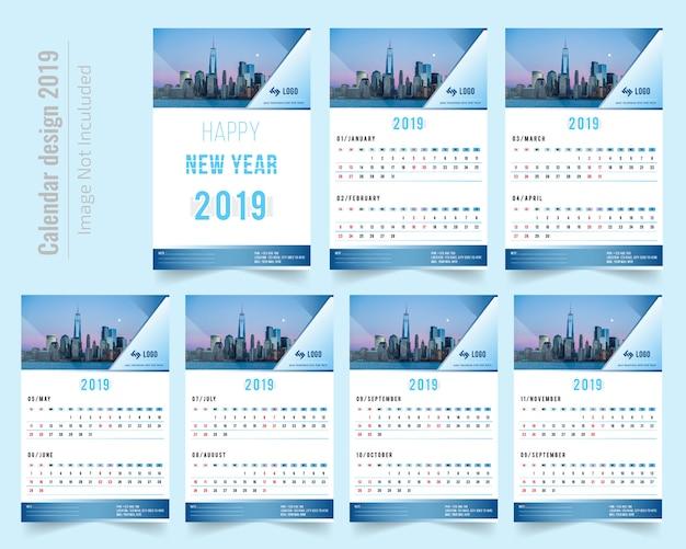 abstracte kalender kleurrijke 2019 malplaatjeachtergrond gratis vector. Black Bedroom Furniture Sets. Home Design Ideas