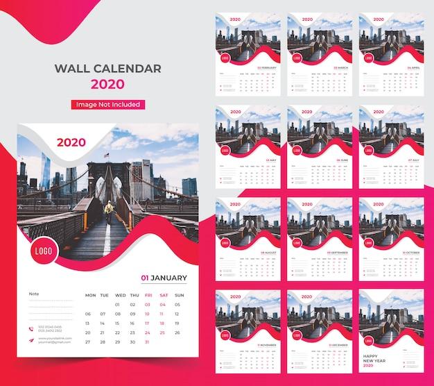 Wandkalender 2020 jaarplanner