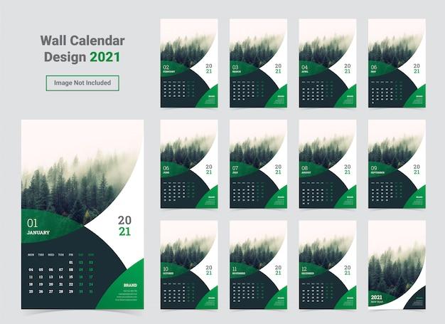 Wandkalender 2020-sjabloon