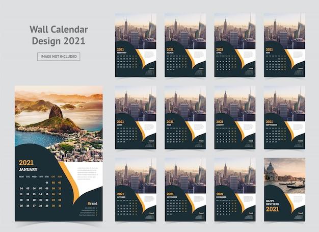 Wandkalender 2021 sjabloon