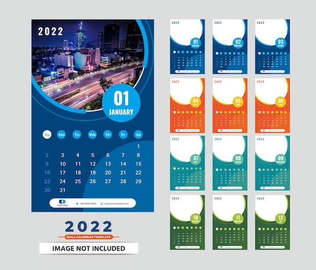 Wandkalender 2022 sjabloon