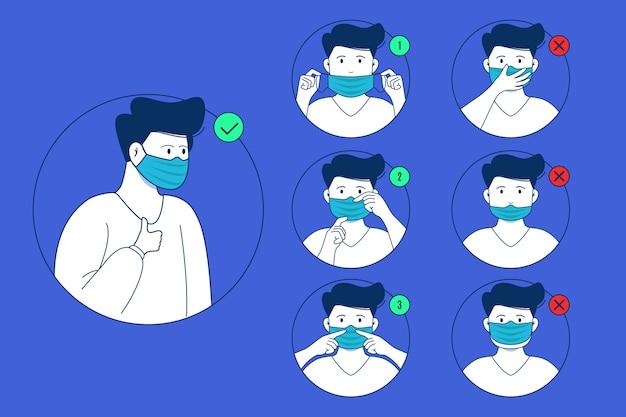 Wanneer en hoe masker infographic te gebruiken
