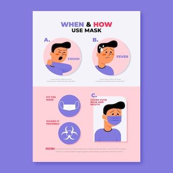 Wanneer en hoe maskers infografie gebruiken
