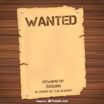 Wanted poster sjabloon