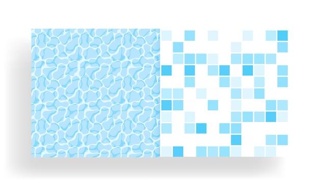Waoppervlakte van het water in het zwembad met naadloos tegelpatroon.