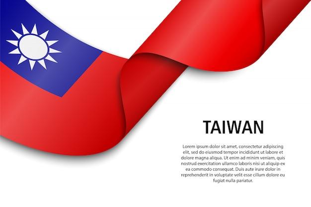 Wapperende lint of banner met vlag