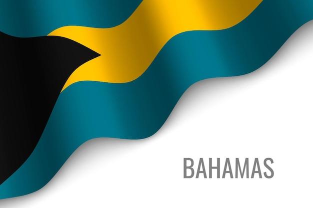 Wapperende vlag van bahama's.
