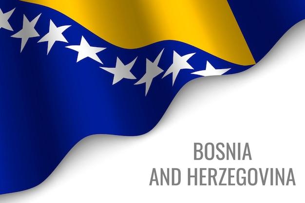 Wapperende vlag van bosna en herzegovina