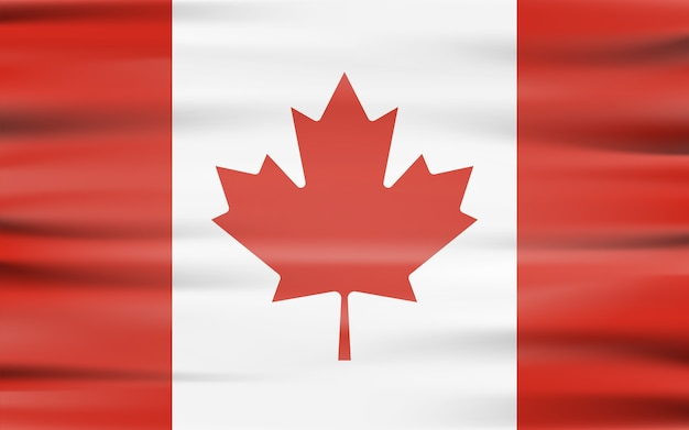 Wapperende vlag van canada zwaaien formulier met schaduw