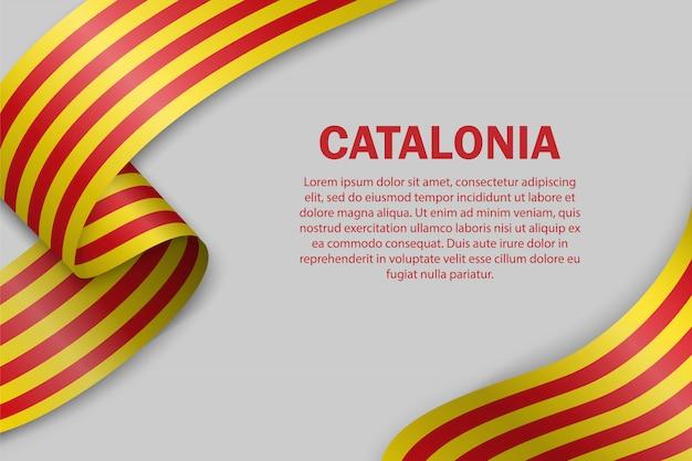 Wapperende vlag van catalonië sjabloon