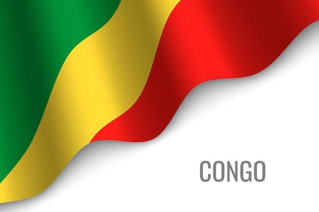 Wapperende vlag van congo