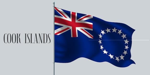 Wapperende vlag van cookeilanden