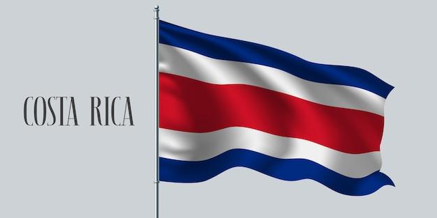 Wapperende vlag van costa rica
