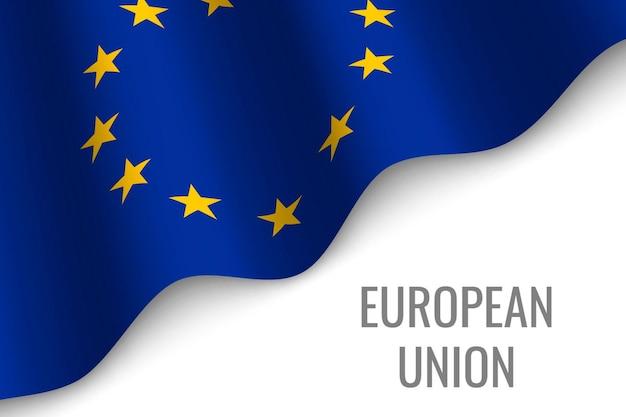 Wapperende vlag van de europese unie
