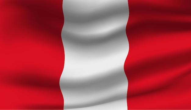 Wapperende vlag van de peru. wapperende vlag van peru abstracte achtergrond