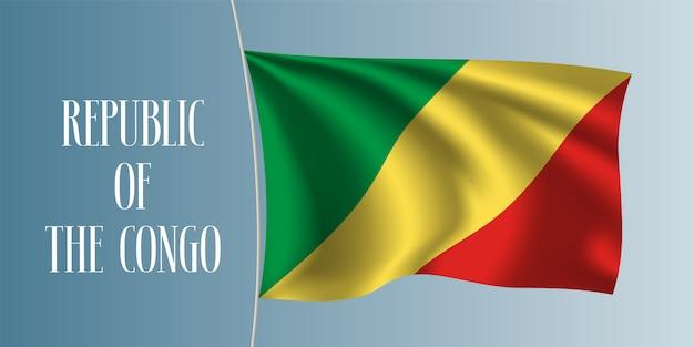 Wapperende vlag van de republiek congo