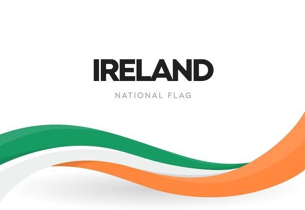 Wapperende vlag van de republiek ierland