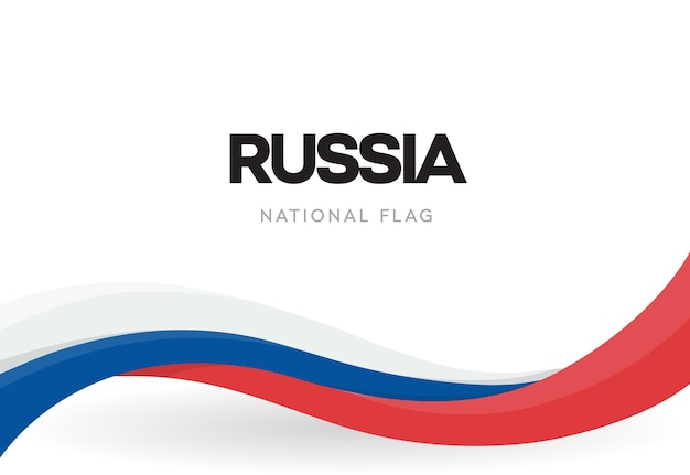 Wapperende vlag van de russische federatie