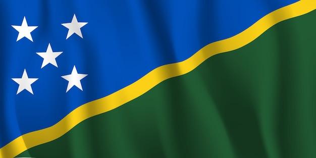 Wapperende vlag van de salomonseilanden abstracte achtergrond