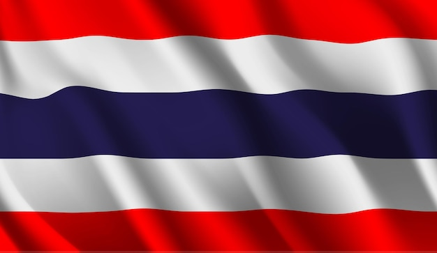 Wapperende vlag van de thailand wapperende vlag van thailand abstracte achtergrond