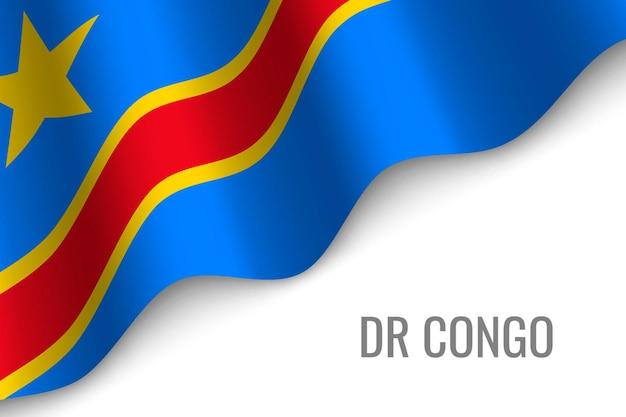 Wapperende vlag van dr congo
