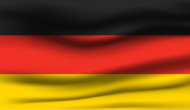 Wapperende vlag van duitsland. wapperende vlag van duitsland abstracte achtergrond
